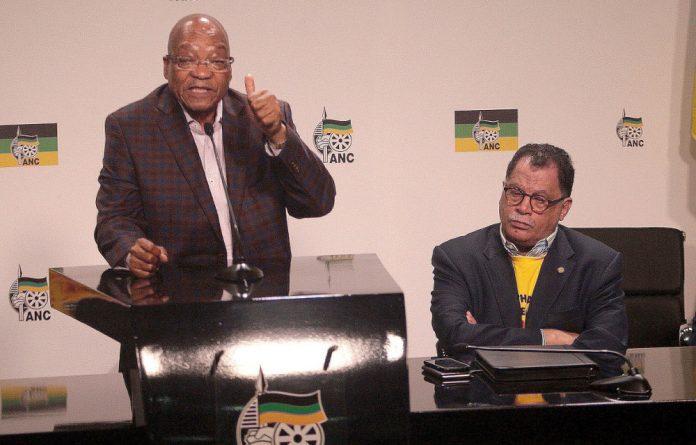 President Jacob Zuma and World Cup organiser Danny Jordaan.