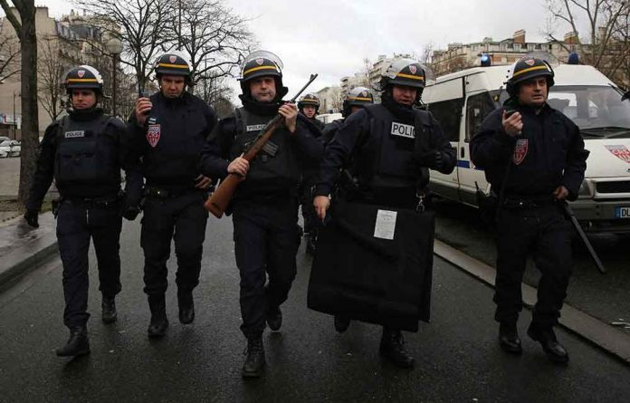 Police arrive with guns at Port de Vincennes on January 9 2015 in Paris