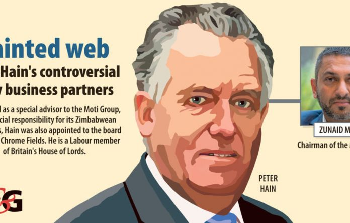 """Peter Hain himself admits that he is now working directly with senior officials """"complicit"""" in former President Robert Mugabe's dictatorial regime."""