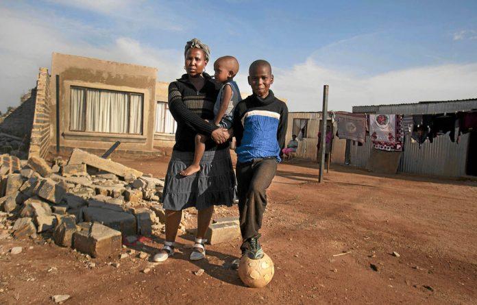 The house of Ntombi Nqedlama's neighbour was demolished