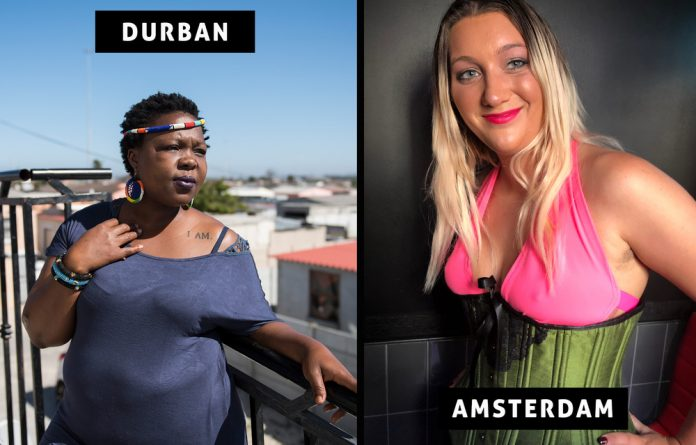 Nosipho Vidima is a sex worker in South Africa where the trade is illegal. Elsa Anderssen works in The Netherlands