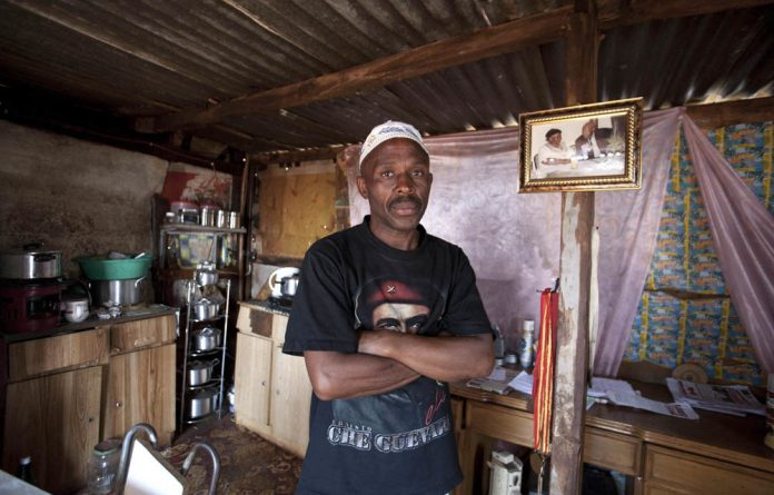 Bhayiza Miya has been fighting for many years for the Thembelihle informal settlement to get electricity and water.