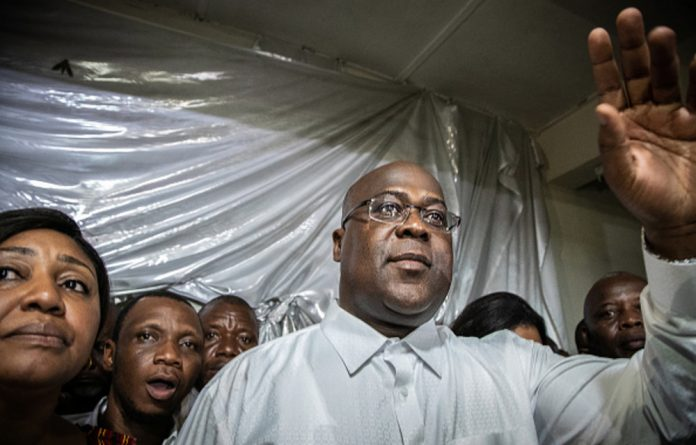 Tshisekedi was credited with 38.57% of the vote