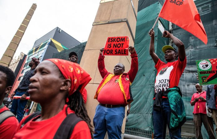 Power struggle: Eskom's plans to unbundle and its deals with independent power producers is anathema to at least a contingent of its 47658-strong workforce. Photo: Wikus De Wet/AFP/Getty Images