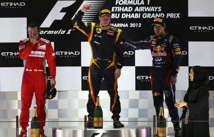(From left to right) Fernando Alonso