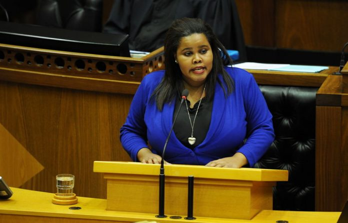 Democratic Alliance parliamentary leader Lindiwe Mazibuko.