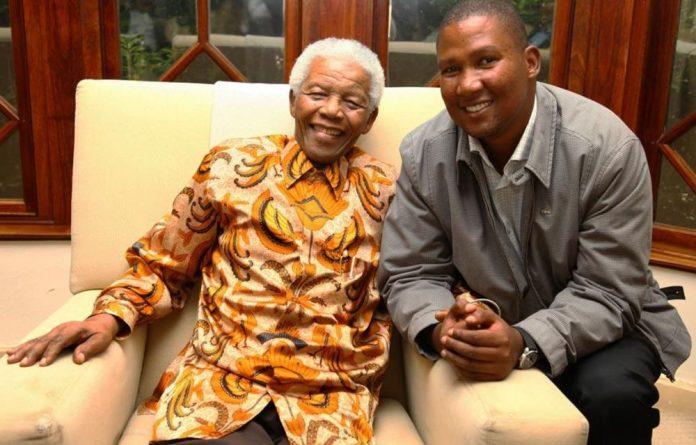 Nelson Mandela and his successor as head of the Mandela family