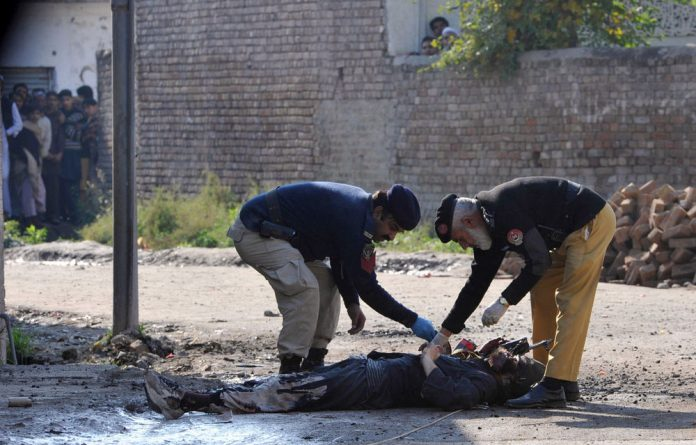 Firing broke out on Sunday following the assault claimed by the Pakistani Taliban.