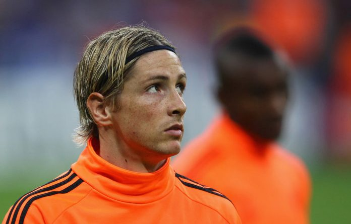 Fernando Torres of Chelsea looks on during Uefa Champions League final between Bayern Muenchen and Chelsea.
