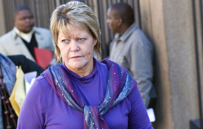Breytenbach's allegation forms part of a challenge to her suspension lodged a week ago with the Labour Court in Johannesburg.