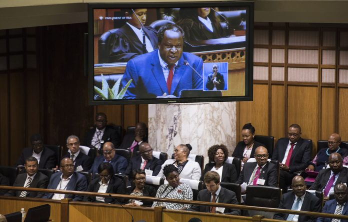 Finance Minister Tito Mboweni delivered the budget speech on Wednesday.