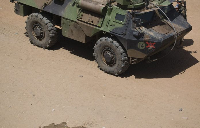 A file photograph of a French armoured vehicle in Mali.