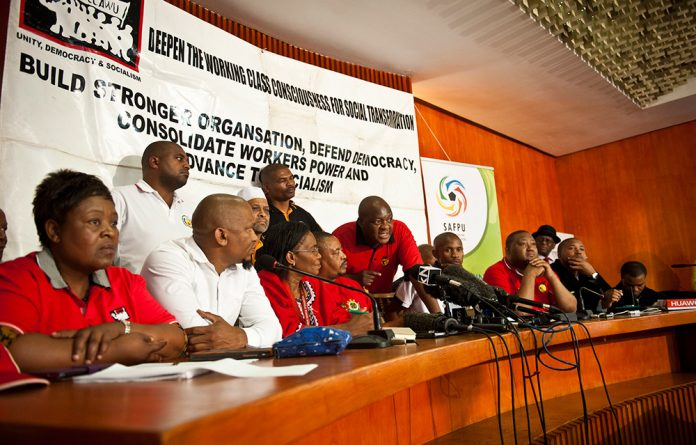 Cosatu President Sdumo Dlamini was dismissive when asked who signed the letter officially confirming Numsa's expulsion.