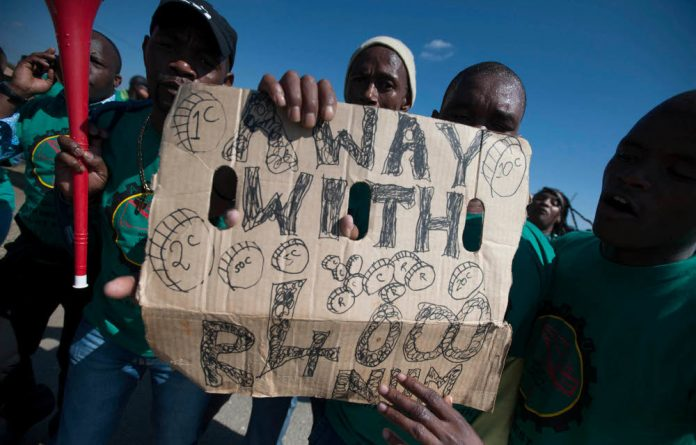 The effect of the platinum mining strike last year was not as severe as expected.