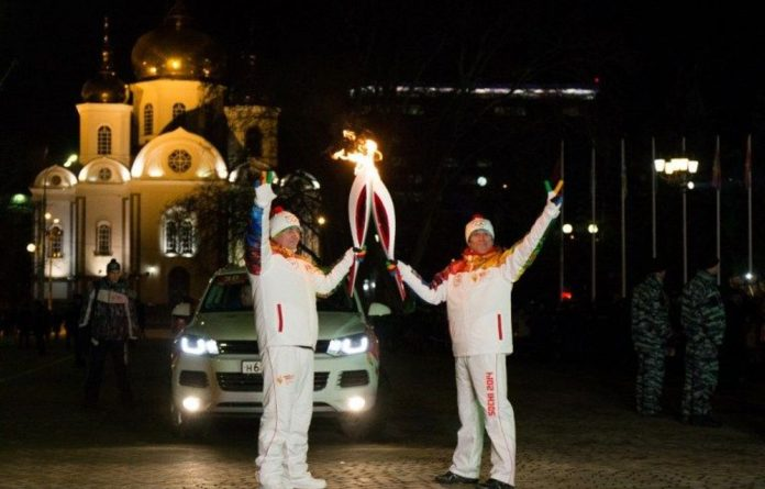The opening of the Winter Olympics in Sochi.