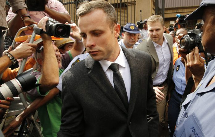 Olympic and Paralympic track star Oscar Pistorius.