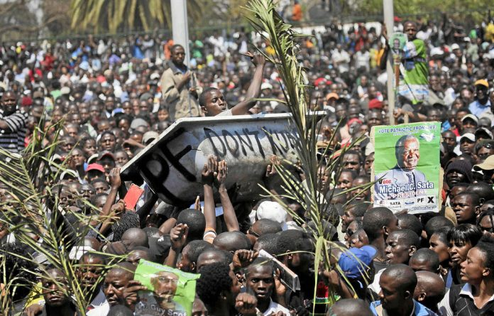 Supporters of Zambia's new president