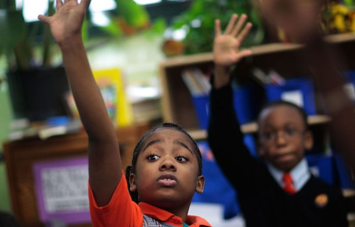 Tyler Smalls and Sekou Cisse are grade 3 pupils at Harlem ­Success Academy
