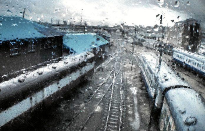 Gareth Pon's photograph was taken through a glass pane from the Nelson Mandela Bridge in Newtown