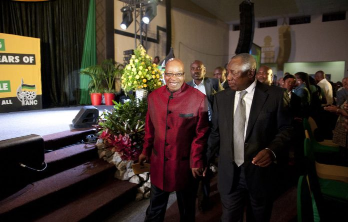 President Jacob Zuma arrives for the the ANC's gala dinner on Friday night.