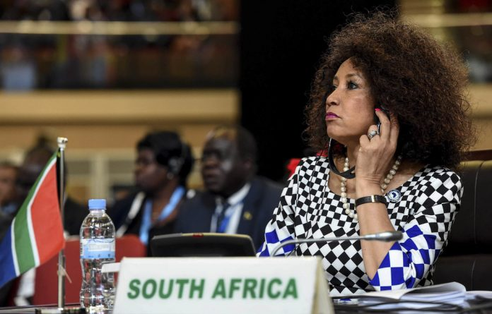 Renewal: International Relations Minister Lindiwe Sisulu wants to revive South Africa's influence in Africa.