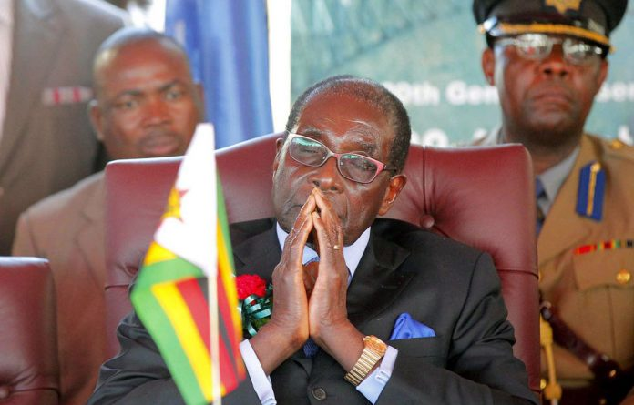 Zimbabwe's leader Robert Mugabe has been flown to Singapore for a routine medical check-up.