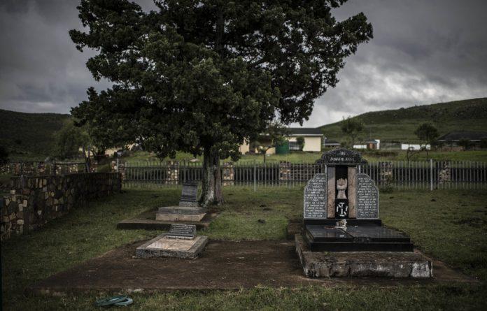 Final resting place: King Sabata Dalindyebo's grave