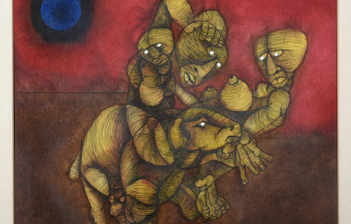 'The Poet' by Nathaniel Mokgosi is being showcased at 'A Black Aesthetic: A View of South African artists