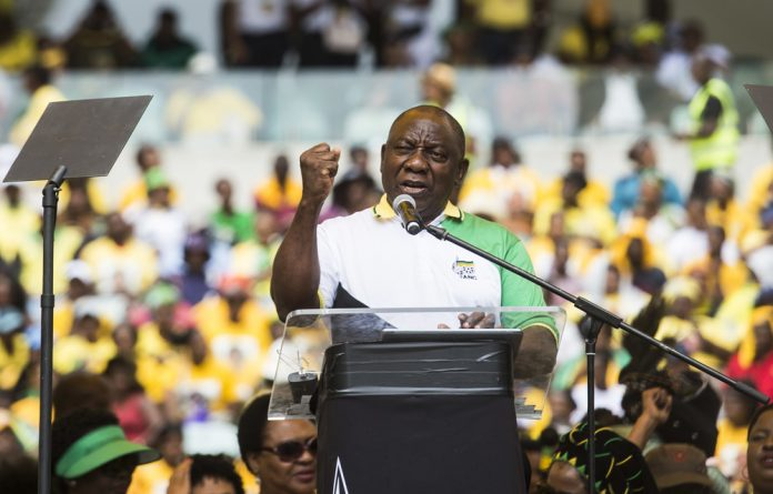 Reform drive: President Cyril Ramaphosa could continue cleaning up the government if he wins big in the May 8 elections.
