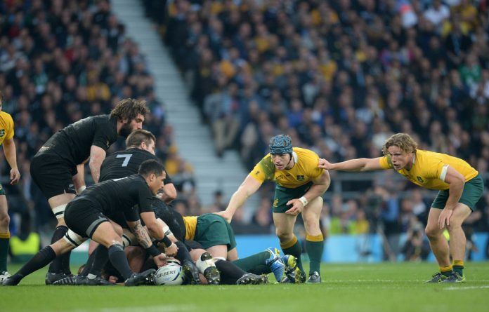 The All Blacks and the Wallabies played against each other in the Rugby World Cup Final in 2015. The teams from New Zealand and Australia have long been rivals and are equally patriotic.