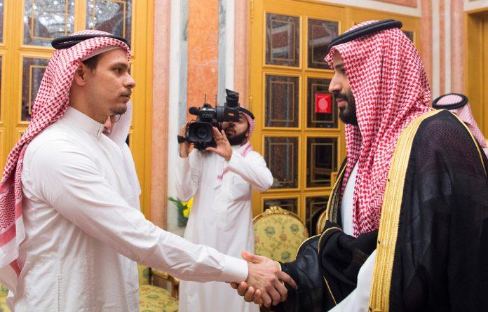 Saudi Crown Prince Mohammed bin Salman meets with Salah Khashoggi family in Riyadh
