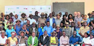 MUS Project National Learning Alliance members with Ga-Mokgotho community