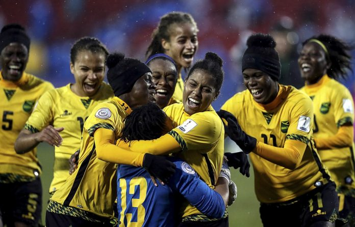 Doin' it for themselves: Five years ago the Jamaican women's team was nonexistent but it has since come back to life and is competing once again.