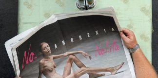 Clothing house Nolita ran an advertising campaign against anorexia to show the reality of the illness.