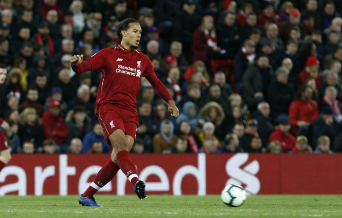 2018/2019 PFA player of the year Virgil Van Dijk in action for Liverpool.