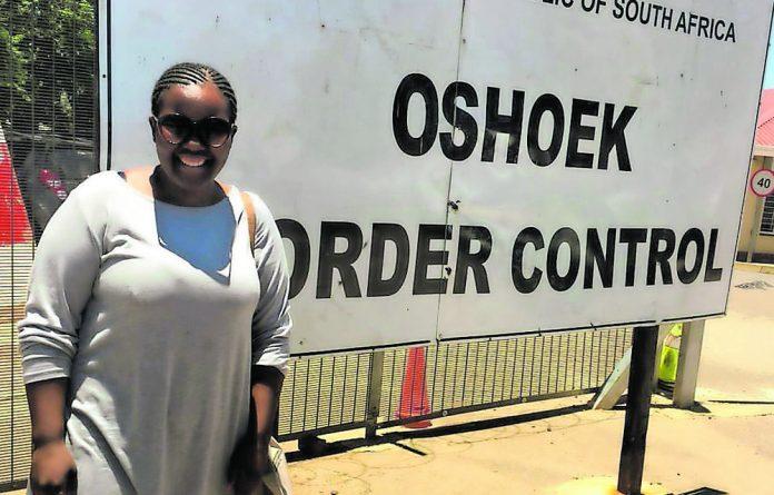 Features editor Zamatungwa Khumalo at the eSwatini border post