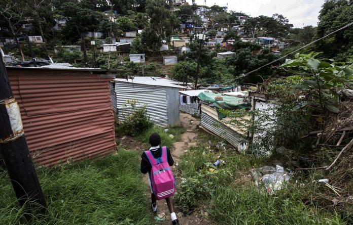 Shanty town: Burnwood informal settlement