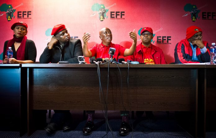 Julius Malema addressed the media on Wednesday.
