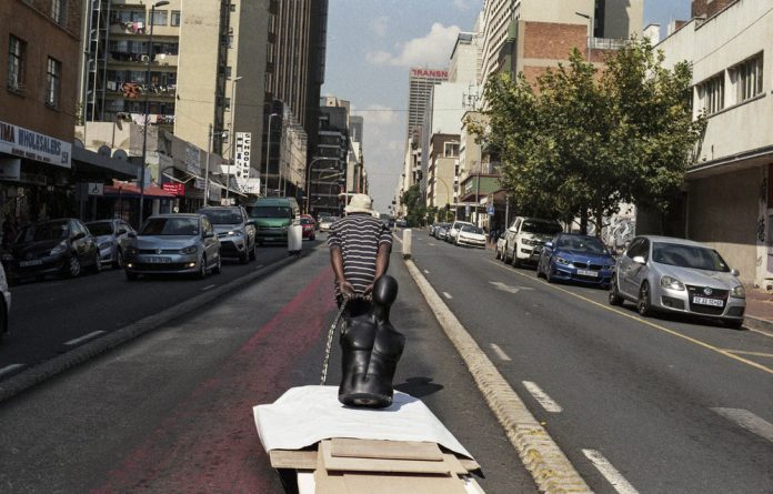 An images from the Johannesburg Trolley Pullers series