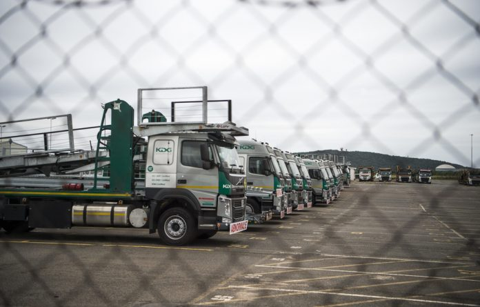 KDG Logistics uses the old Durban International Airport premises as a place to store its vehicles