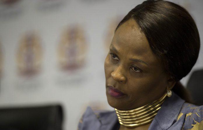 Public protector Busisiwe Mkhwebane.