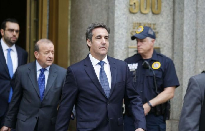 Michael Cohen as sentenced to three years in prison in December