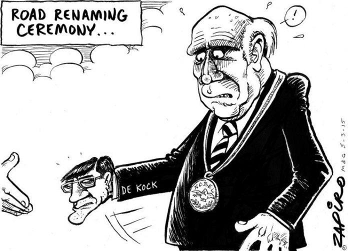 Zapiro: 'Prime Evil' still haunting De Klerk
