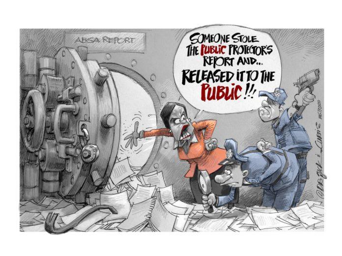 Zapiro: Public protector outrage for a public crime