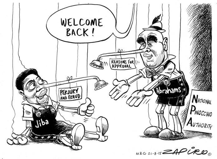 Zapiro: Welcome to the National [Pinocchio] Authority