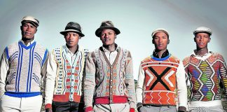 International knitwear designer Laduma Ngxokolo