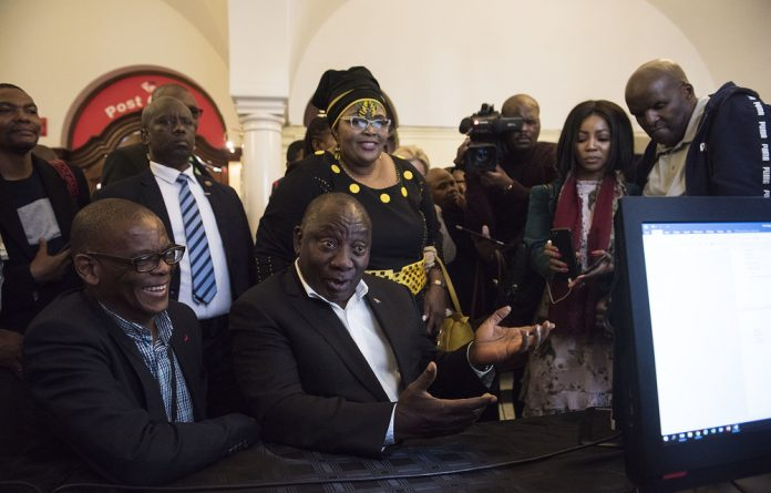 Ramaphosa was nominated by newly appointed ANC chief whip Pemmy Majodina and seconded by ANC MP David Ntombela.
