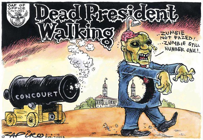 Zapiro: Zombified: A dead president walking