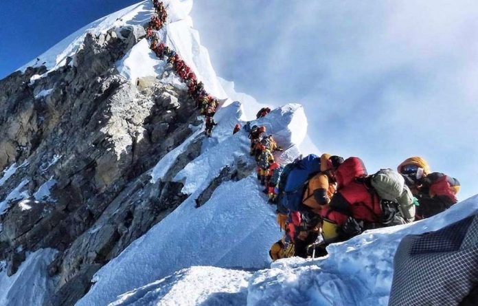 The queue to the top.