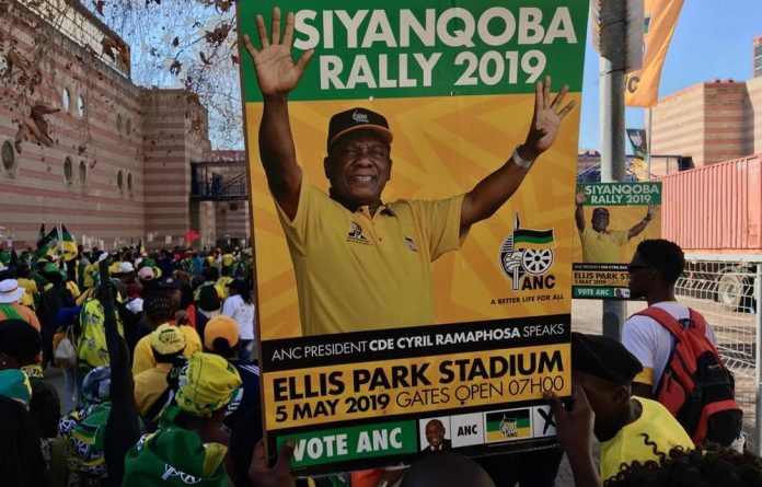 ANC supporters decked in green and gold steadily streamed into the Ellis Park stadium as entertainers performed on stage on Sunday morning before proceedings kicked off.